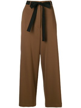 Hache belted palazzo trousers - Brown