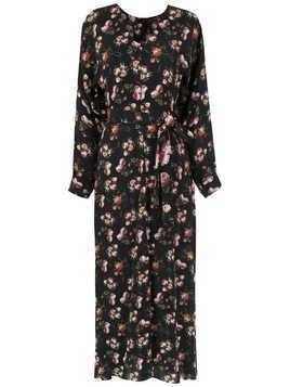 Gloria Coelho long printed dress - Black