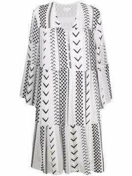Lala Berlin Dafina X-Stitch embroidered dress - White