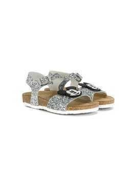 Moa Kids Mickey Mouse Applique sandals - Silver