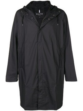 Rains waterproof hooded coat - Black