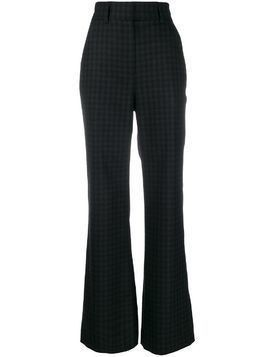 Goat Ivanhoe high-wasist check trousers - Grey