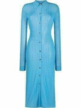 Dodo Bar Or open-knit midi dress - Blue