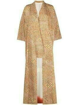 A.N.G.E.L.O. Vintage Cult 1970s geometric print kimono coat - Orange