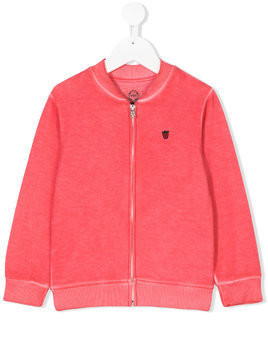 Madson Discount Kids strawberry embroidered zip sweatshirt - Pink