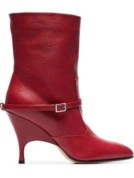 Alchimia Di Ballin red Cuba 95 leather ankle boots