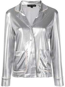 Love Stories metallic pyjama top - Silver