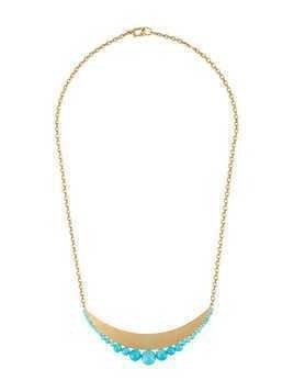 Irene Neuwirth 18kt yellow gold Kingsman turquoise bead pendant necklace