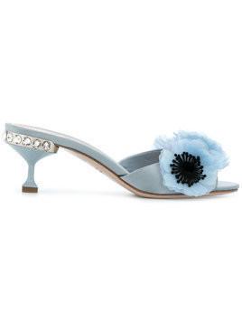 Miu Miu flower peep-toe sandals - Blue