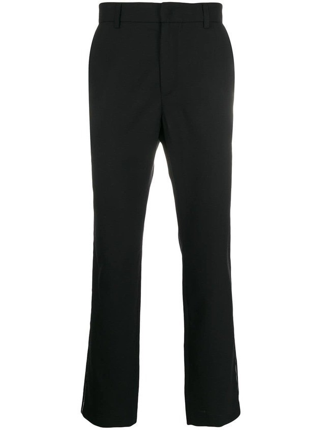 Maison Flaneur slim-fit trousers - Black