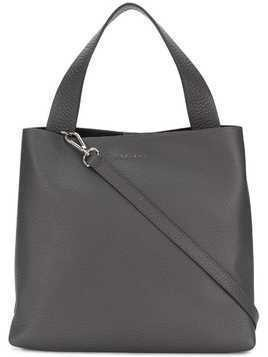 Orciani logo plaque tote - Grey