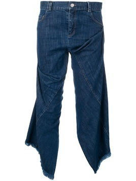 Act N°1 cropped raw edge jeans - Blue