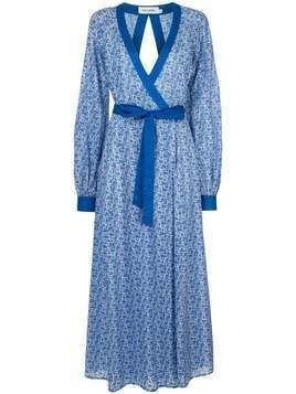 The Upside patterned wrap dress - Blue