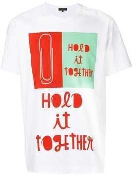 Comme Des Garçons Homme Plus Hold It Together graphic T-shirt - White
