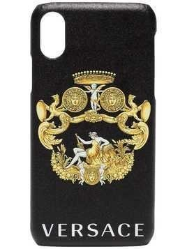 Versace Baroque Logo iPhone X Case - Black
