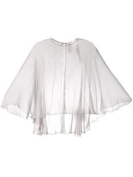 Maria Lucia Hohan mousseline cape - Silver