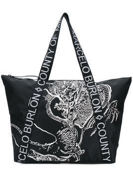 Marcelo Burlon County Of Milan Asier shopping bag - Black