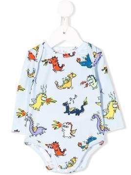 Stella McCartney Kids dragon print bodysuit - Blue