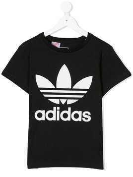 Adidas Kids printed T-shirt - Black