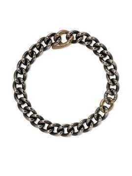 Hum 18kt diamond chain bracelet - Silver and gold