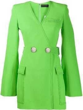David Koma cut-out blazer dress - Green
