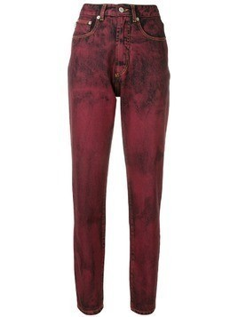 Fiorucci acid wash jeans - Red