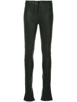 Masnada skinny faux leather trousers - Black