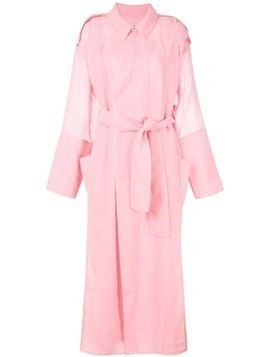 Maison Rabih Kayrouz belted trench coat - Pink