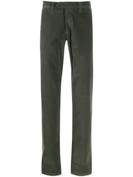 Canali cotton corduroy chinos - Green