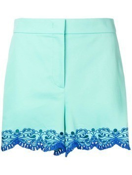 Emilio Pucci Blue Sangallo Embroidered Shorts - Green