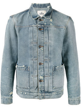 Levi's: Made & Crafted faded denim jacket - Blue
