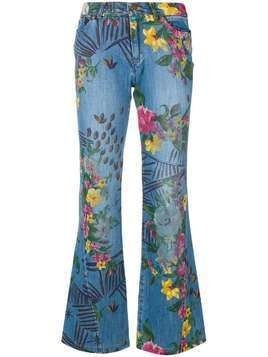 Kenzo Pre-Owned floral flared jeans - Blue