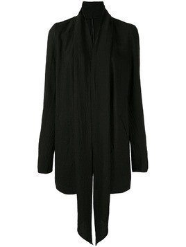 Masnada draped front blazer - Black