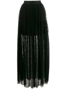 John Richmond Gallego long pleated skirt - Black