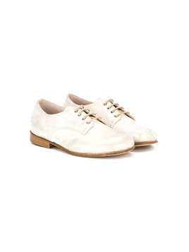 Pèpè metallic lace up shoes - White