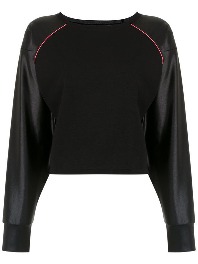 Track & Field Neon long sleeved blouse - Black