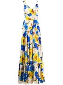 Borgo De Nor Frida floral maxi dress - Blue