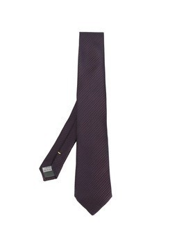 Canali embroidered tie - Pink&Purple