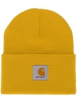 Carhartt WIP logo patch beanie - Yellow
