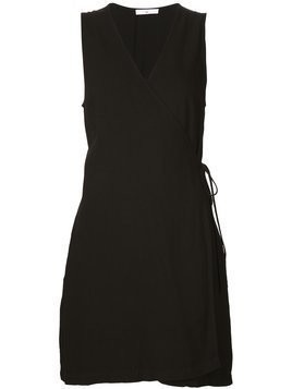 321 mini wrap dress - Black