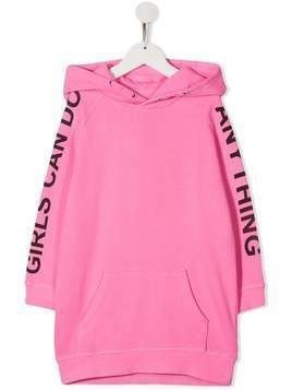 Zadig & Voltaire Kids oversized hooded sweatshirt - Pink