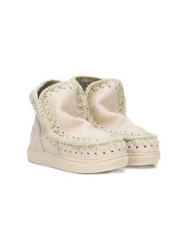 Mou Kids slip-on booties - Nude & Neutrals