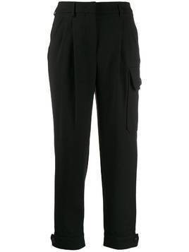 Incotex cropped utility trousers - Black