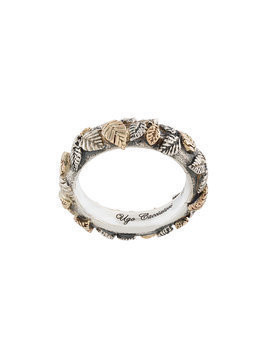 Ugo Cacciatori leaf detail ring - Metallic