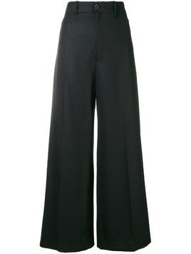Joseph creased palazzo trousers - Black