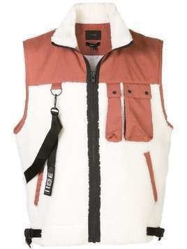 Iise Sherpa shearling gilet - Red