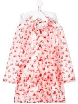 Bobo Choses Apple print raincoat - Red
