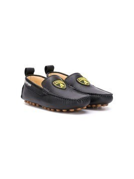 Bumper Lamborghini patch loafers - Black