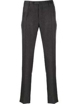 Incotex checked trousers - Grey