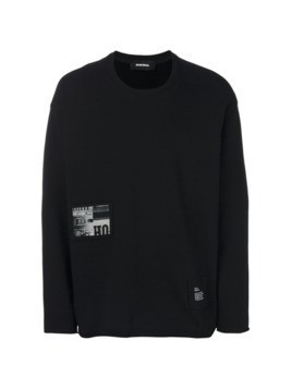 Diesel patch detail sweatshirt - Black